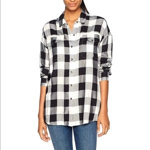 Splendid Buffalo Check Plaid Shirt Dress S